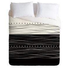 Viviana Gonzalez Black and white collection 01 Duvet Cover