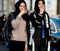 It's never 'not-time' for #selfie time! We're loving these pic and the girls in it! #fashion #fashionweek #style