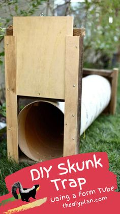 An encounter with an angry or frightened skunk can be memorable, and not in a good way. Skunk's smelly spray can be detected by humans up to a mile away. Recently we spotted few skunks in our backyard and I was concerned that they would spray our kids one of these days. So I decided to build a skunk trap so that I could relocate them, away from our house. I used scrap wood was laying around in my garage. #diy #freeplans #projects #homedecor #garden #woodproject #doityourself #homeimprovement