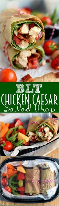 cool BLT Chicken Caesar Salad Wrap - Mom On Timeout