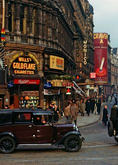 Shaftsbury Ave from Picadilly Circus, London, 1949.