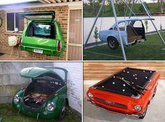 Repurposed junk cars.  :-)