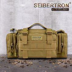 half off bcfb9 8fa61 Seibertron Tactical Utility Response Shoulder Handväska Multipurpo se Waist  Bag Vattentät väska färg brun och svart