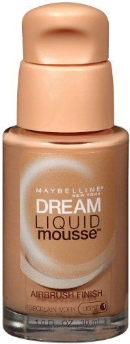 Maybelline Dream Liquid Mousse Airbrush Foundation Porcelain Ivory Light 1 1 oz *** Click image for more details. (This is an affiliate link and I receive a commission for the sales)