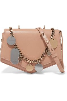 Jimmy Choo | Arrow embellished textured-leather shoulder bag | NET-A-PORTER.COM
