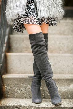 Toronto :: Tiered ruffle dress & Soft vest
