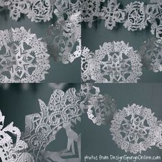 Make your own paper snowflakes @ColourLovers