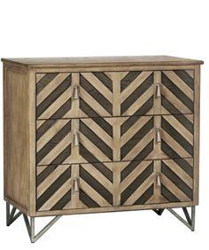Chevron 3-Drawer Dresser