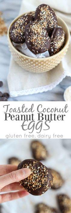 Toasted Coconut Peanut Butter Eggs - pumpkinandpeanutbutter