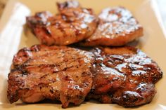Grilled Brown Sugar Glazed Pork Chops