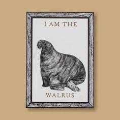 I AM THE WALRUS Lyrics & Tusks Print A3