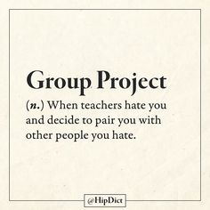 """""""group project """" it's all about hate"""