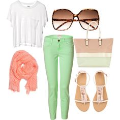 spring time color.. it's them mint colored jeans :)