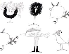 Olle Eksell Birds. Cutest ever? http://www.marymathieux.com/uploaded_images/olle6-793384.jpg
