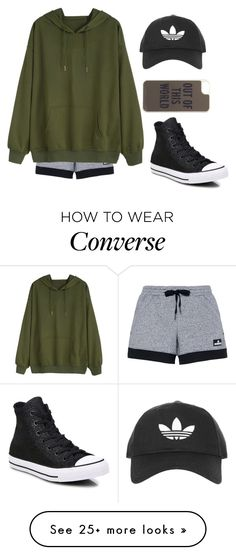"""""""Untitled #416"""" by luka1207 on Polyvore featuring adidas, Converse, Kate Spade and Topshop"""