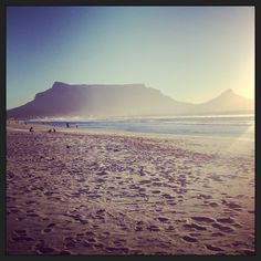 local beach, surfers delight, beautiful sights of Table Mountain as well as sunsets, not much tourists to bother you - great for families as well! Table Mountain, Surfers, Cape Town, Families, Mountains, Sunset, Beach, Water, Travel