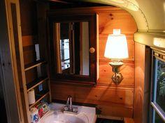 Von Slatt converted schoolbus (bathroom)
