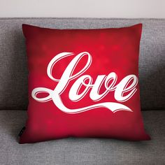 Red Valentine's Day Pillow Cover. Nine designs to choose from all on a red background. Red is the colour of LOVE so, spoilt of choice order all designs. Aladdin, Be My Valentine, Valentine Day Gifts, Red Background, All Design, Home Gifts, Gifts For Him, Pillow Covers, Bed Pillows