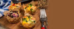 Vajíčkový raňajkový mafin