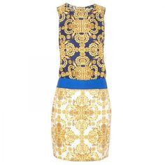 Tibi Print woven silk dress