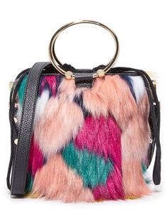 Shop for Faux Fur Drawstring Bucket Bag by Milly on ShopStyle.