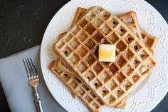 Honey Coconut Whole Wheat Waffles (coconut milk)
