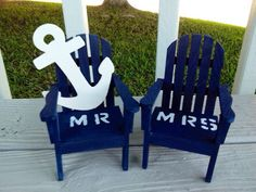 NautacalBeach Chairs Adirondack Cake Topper by NauticalWeddings