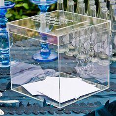 l'urne de mariage contemporaine en plexiglas
