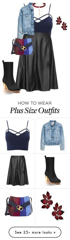 """""""plus size fall/winter street diva"""" by xtrak on Polyvore featuring Charlotte Russe, navabi, Shoes of Prey, Tory Burch and plus size clothing"""