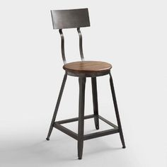 Like something you might find in an urban loft, our Hudson Counter Stool is rich with industrial appeal. Crafted of acacia wood and metal, this rustic stool features a lovely curved backrest for a touch of vintage-inspired beauty.