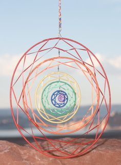 Large 6-Ringed Rotating Rainbow Dream Catcher