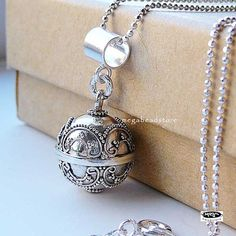 Harmony Ball Chime Pendant Necklace Dream Bell by MegaBeadStore, $29.99