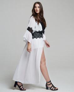"""""""Black & Wild"""" trend • mat. S/S 2017 collection Cold Shoulder Dress, Spring Summer, Dresses With Sleeves, Long Sleeve, Collection, Black, Fashion, Moda, Full Sleeves"""