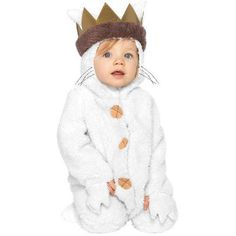 Baby Max Costume - Baby Where the Wild Things Are Baby Max Toddler Costume features ultra soft bodysuit with attached hood and crown. Your little bundle can become the king of the wild things in this adorable costume. Baby First Halloween, Toddler Halloween Costumes, Cute Costumes, Halloween Fancy Dress, Costumes Kids, Halloween Ideas, Halloween 2016, Halloween City, Halloween Outfits