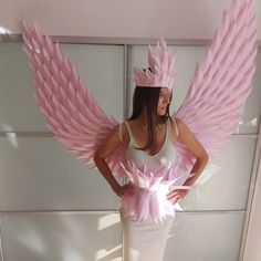 """""""#pinkwings #Halloweencostume #wingsadult"""" Adult Costumes, Costumes For Women, Halloween Costumes, Halloween Wings, Angel Wings Costume, White Angel Wings, Angel Images, Fashion Show, Fashion Outfits"""