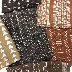 Mud cloth in Brown and Rust Colors look great year-round.