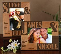 Because Of You Personalized Frame / This personalized frame which celebrates your love for each other is available in your choice of 5 verse options or write your own! http://thegadgetflow.com/portfolio/because-of-you-personalized-frame-25/