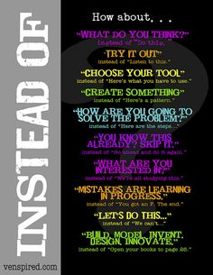Change what you say to your students with little tweaks from venspired.com