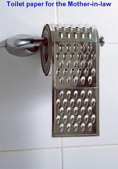 Funny Pictures, Funny jokes and so much more | Jokideo | Mother-in-law's toilet paper | http://www.jokideo.com