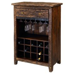 Sirsa Wine Cabinet by Pulaski Furniture in Bar and Wine Cabinets. The Sirsa Wine Cabinet by Pulaski Furniture will become that special touch that transforms a room from nice to wow! Wine Rack Table, Rustic Wine Racks, Rustic Wine Cabinet, Small Liquor Cabinet, Pulaski Furniture, Bar Furniture, Furniture Vintage, Accent Furniture, Accent Chests And Cabinets