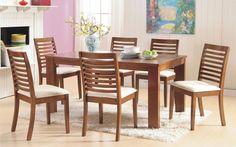 juego comedor con 6 sillas tapizadas living excelente