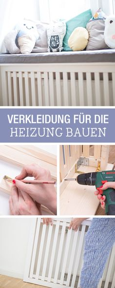 Nursery DIY: Heating with self-made paneling / living DIY: giving your old heater a new look via DaW
