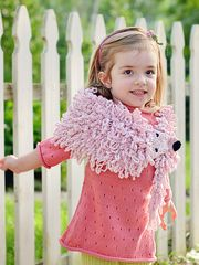 Childs Baum Marten Stole Bubble Pink, by Virginia Dunn - Virginia Dunn on Taigan