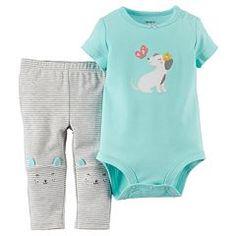 Carter's Baby Girl Animal Bodysuit & Pants Set