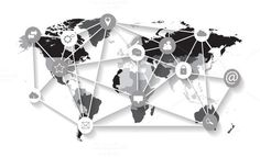 world map vector with social media . Travel Infographics. $8.00