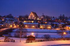 old porvoo in the evening. Photo: Janne Laaksonen