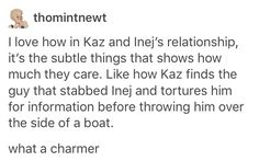 Kaz is such a charmer!