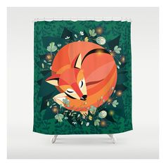 The Gentle Fox Shower Curtain  Unique by CabinetPrettyThings