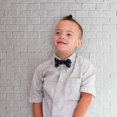 Classic Kids Boys Bow Ties Mini Polka Dots Woven Pre-tied Party Favor