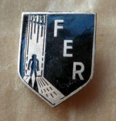 Insigne FER Algérie Française OAS FÉDÉRATION ETUDIANTS RÉFUGIES France ORIGINAL